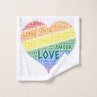 Toalha De Rosto Bandeira da lareira do arco-íris de LGBT ilustrada