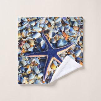Toalha De Rosto Estrela do mar chique e Seashells