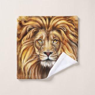 Toalha De Rosto Pano artístico da lavagem da cara do leão