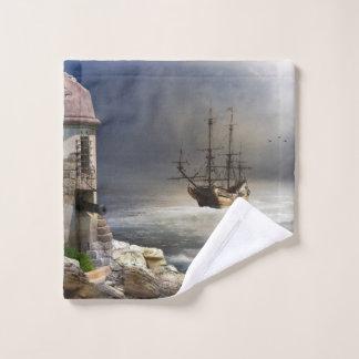 Toalha De Rosto Pano da lavagem da baía do pirata