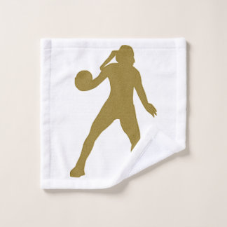 Toalha De Rosto Pano dourado da lavagem do handball