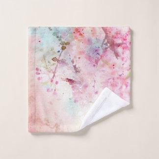 Toalha De Rosto Pano floral da lavagem da aguarela cor-de-rosa