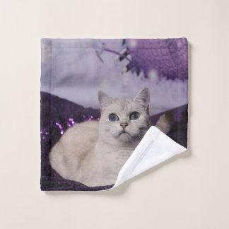 Toalha De Rosto Purple Cat