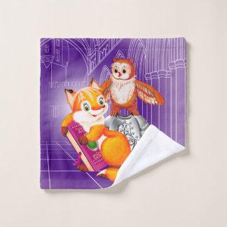 Toalha De Rosto raposa e coruja
