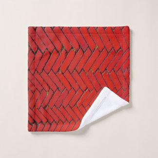 Toalha De Rosto Washcloth do teste padrão de Chevron do tijolo