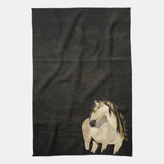 Toalha do cavalo branco