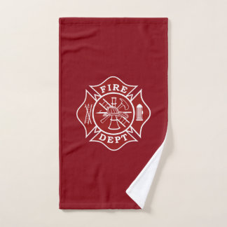 Toalha do Gym da cruz maltesa do sapador-bombeiro