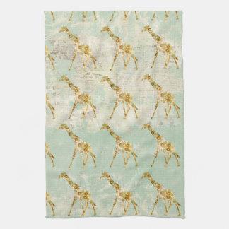Toalha do teste padrão do girafa
