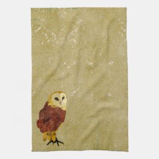 Toalha dourada da coruja do rubi