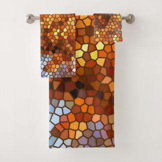 Toalhas de banho do abstrato do outono do mosaico