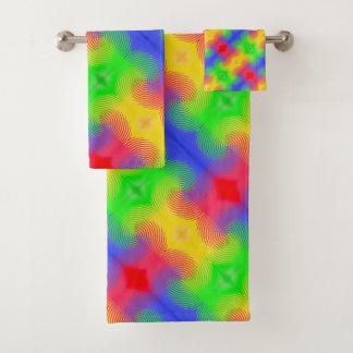 Toalhas de banho do design do abstrato dos
