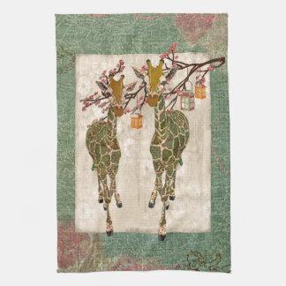 Toalhas do crepúsculo da flor de cerejeira dos gir toalha de mão