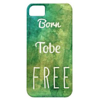 Tobe nascido [limitado] livre - iPhone 5/5S, Capa Barely There Para iPhone 5
