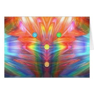 Tocha de cristal cartão comemorativo