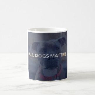Toda a caneca de café da matéria dos cães