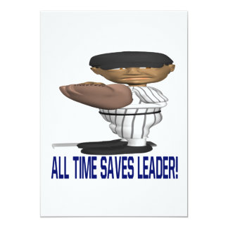 Toda a hora salvar o líder convite 12.7 x 17.78cm