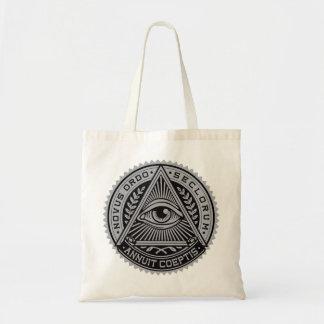 Toda a sacola de vista do orçamento do olho bolsa