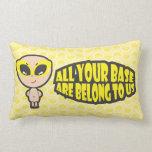 Toda sua base é nos pertence amarelos travesseiros