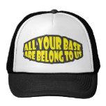 Toda sua base é nos pertence chapéu bone