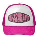 Toda sua base é nos pertence chapéu bonés