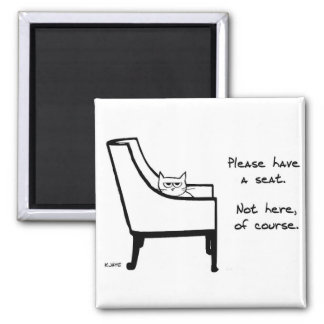Todas as cadeiras pertencem ao gato - imã de