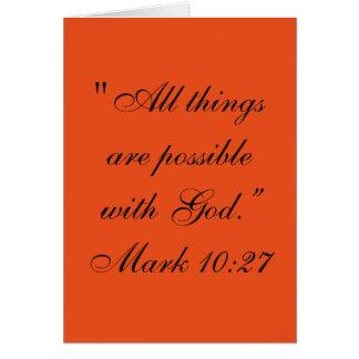 """""""Todas as coisas são"""" cartão possível da escritura"""