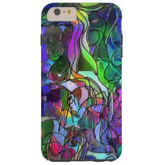 Todas as cores com redemoinhos e linhas capas iPhone 6 plus tough