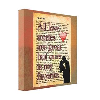 Todas as histórias de amor -- Impressão da arte