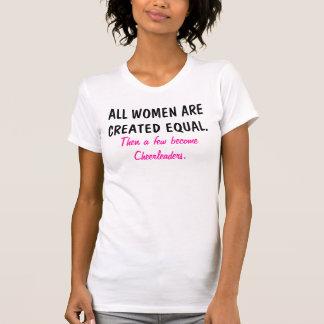 Todas as mulheres são camisa cheerleading criada