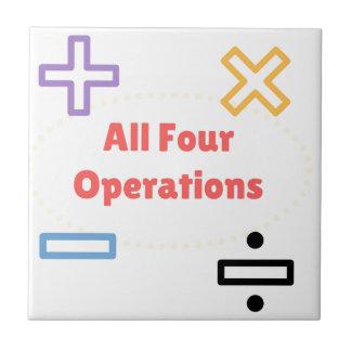 Todas as quatro operações
