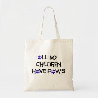 Todas minhas crianças têm o saco das patas bolsa tote