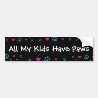Todas minhas Miúdo-Crianças têm as patas Adesivo