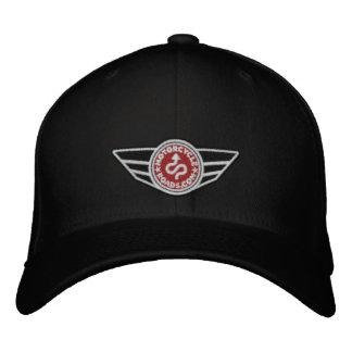 Todo-boné preto com o logotipo bordado vermelho de boné bordado