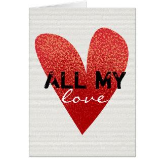 Todo meu cartão do dia dos namorados do coração |