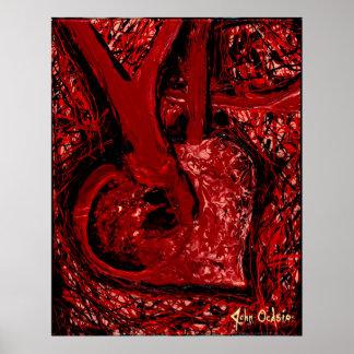 TODO MEU CORAÇÃO (grande) (arte expressionistic Pôster