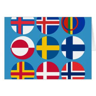 Todo o cartão escandinavo das bandeiras