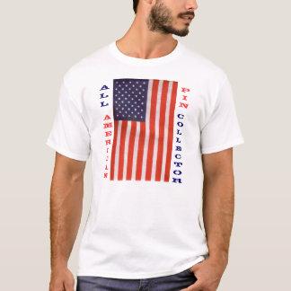 todo o coletor americano do pino camiseta
