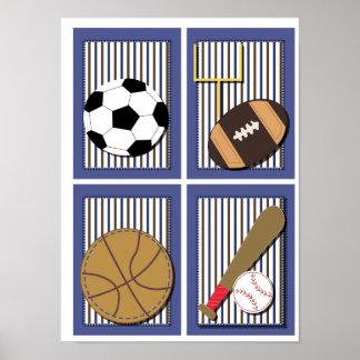 Todo o futebol do futebol da arte da parede dos me impressão