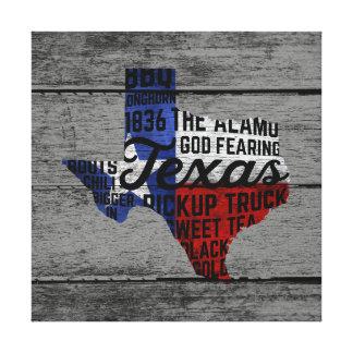 Todo o impressão das canvas de Texas das coisas