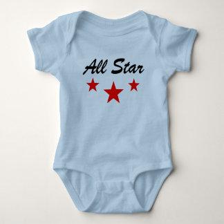 Todo o jérsei do bebê da estrela, bodysuit, camisa