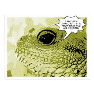 Todo o lagarto sabendo - no. 1 da série da banda d cartão postal