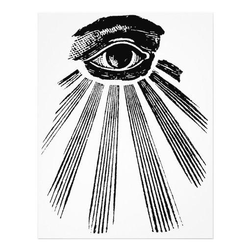 Todo o pedreiro de vista do olho modelo de panfletos