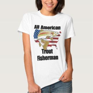 Todo o pescador americano da truta tshirt