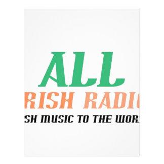 Todo o rádio irlandês flyer 21.59 x 27.94cm