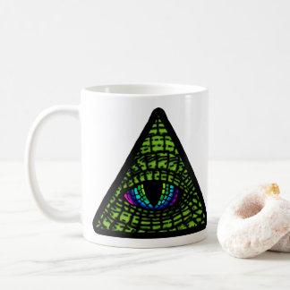 Todo-Vendo a caneca de café do olho do Reptilian
