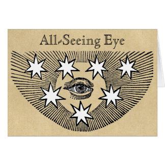 Todo-Vendo o olho Cartão Comemorativo