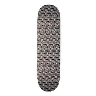 Todo-Ver-Vermelho-Olho mim Shape De Skate 18,4cm