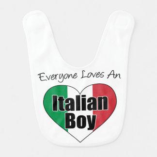 Todos ama o babador italiano do menino