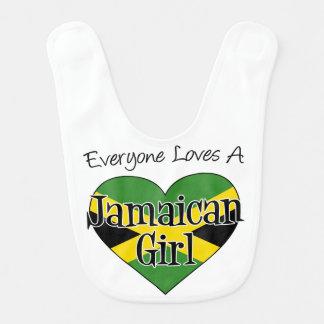 Todos ama o babador jamaicano da menina