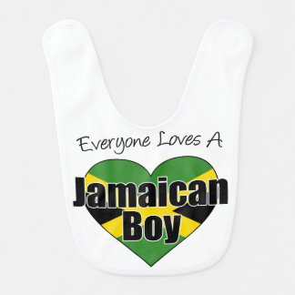 Todos ama o babador jamaicano do menino
